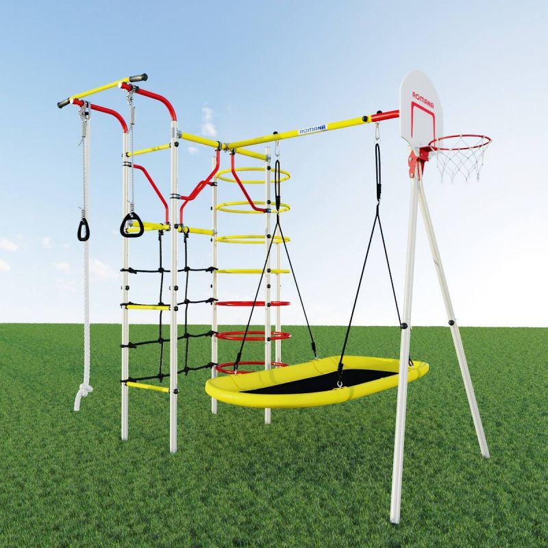 Фотография Детский спортивный комплекс для дачи ROMANA Космодром NEW + качели-лодка 1