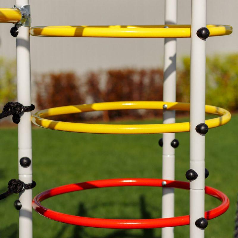Фотография Детский спортивный комплекс для дачи ROMANA Космодром NEW + качели-лодка 8