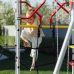 Миниатюра Детский спортивный комплекс для дачи ROMANA Космодром NEW + качели-гнездо 3  мини