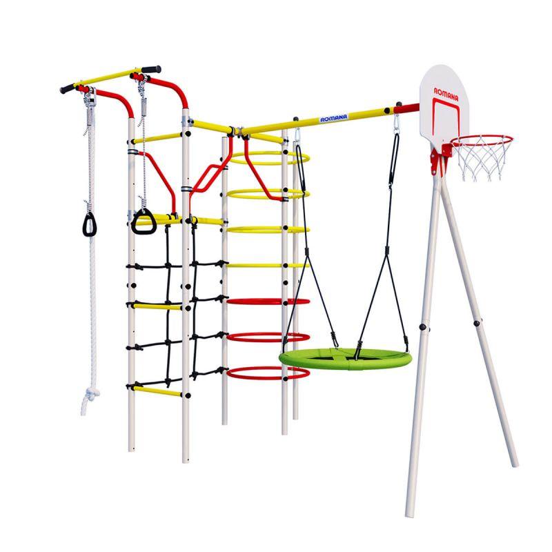 Фотография Детский спортивный комплекс для дачи ROMANA Космодром NEW + качели-гнездо 0