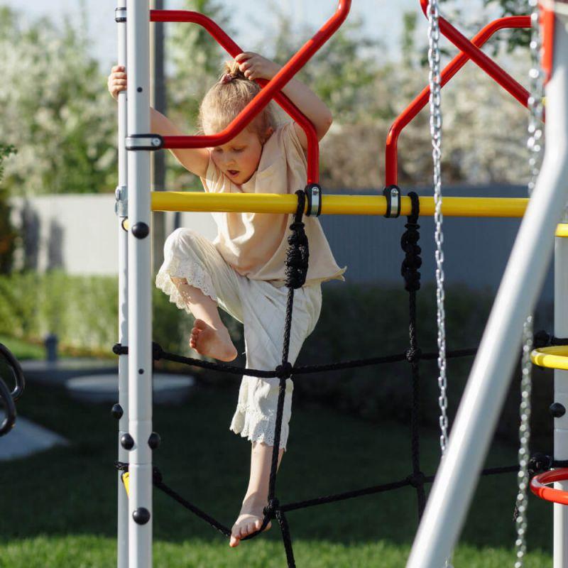 Фотография Детский спортивный комплекс для дачи ROMANA Космодром NEW + пластиковые качели 2