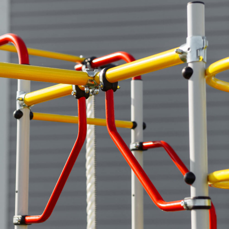 Фотография Детский спортивный комплекс для дачи ROMANA Космодром NEW + пластиковые качели 4