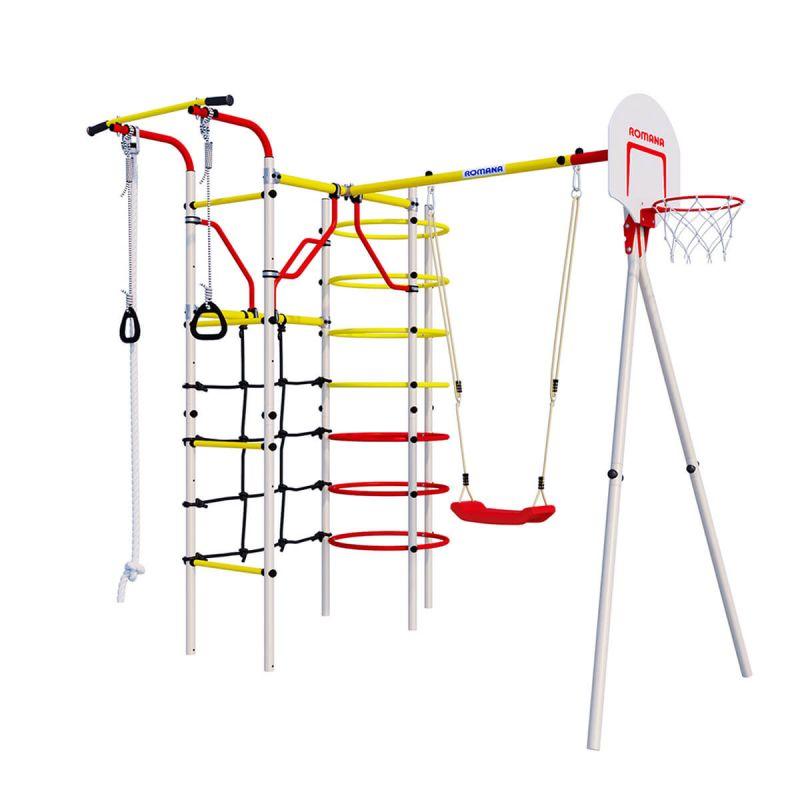 Фотография Детский спортивный комплекс для дачи ROMANA Космодром NEW + пластиковые качели 0