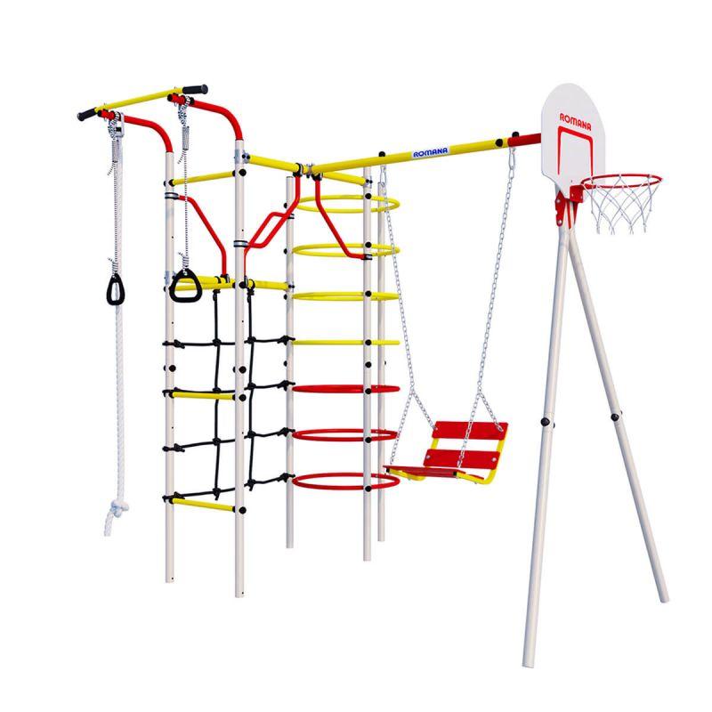 Фотография Детский спортивный комплекс для дачи ROMANA Космодром NEW + цепные качели 0