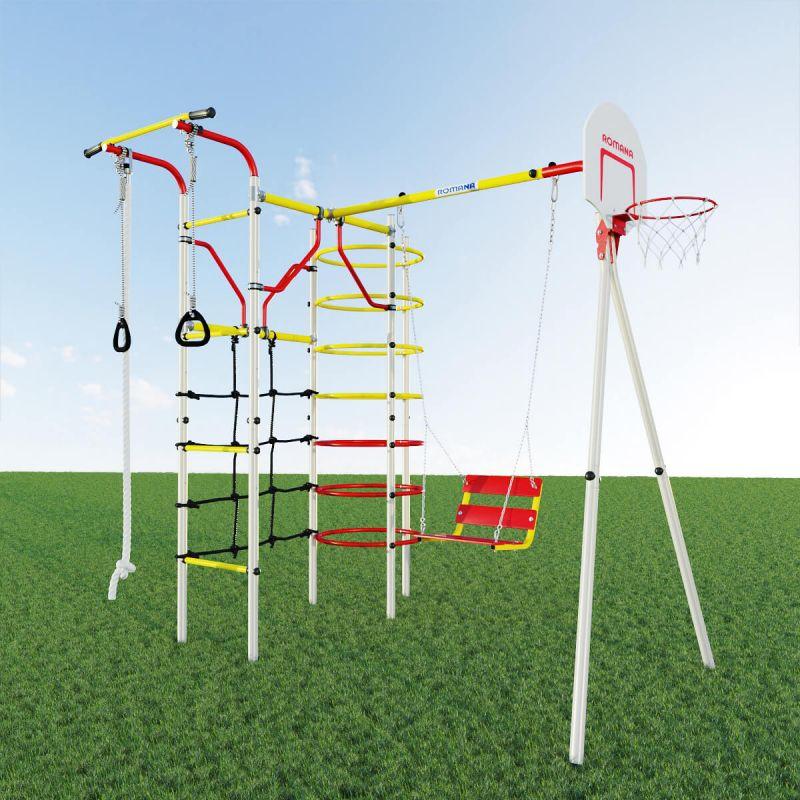Фотография Детский спортивный комплекс для дачи ROMANA Космодром NEW + цепные качели 1