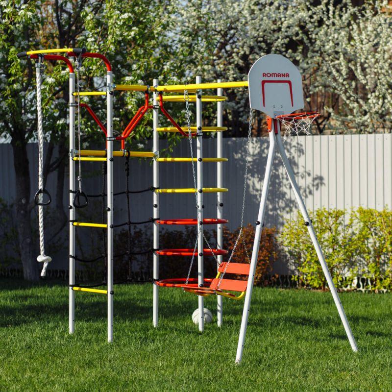 Фотография Детский спортивный комплекс для дачи ROMANA Космодром NEW + цепные качели 2
