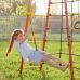Миниатюра Детский спортивный комплекс для дачи ROMANA Богатырь NEW + качели-гнездо 4  мини