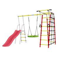 Детский спортивный комплекс для дачи ROMANA Богатырь NEW + качели-гнездо