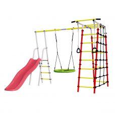 Миниатюра Детский спортивный комплекс для дачи ROMANA Богатырь NEW + качели-гнездо 0  мини