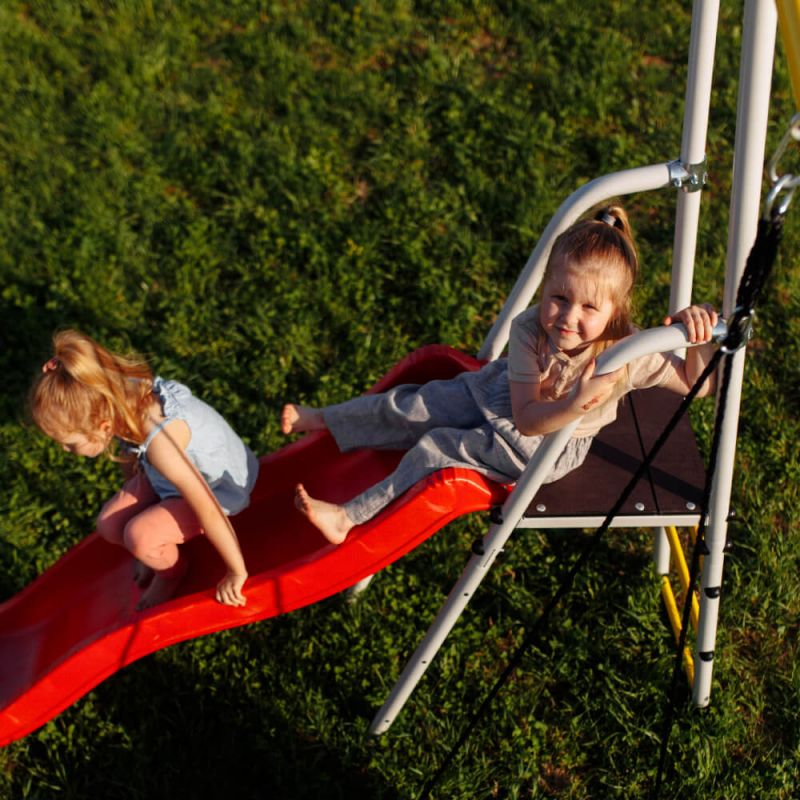 Фотография Детский спортивный комплекс для дачи ROMANA Богатырь NEW + качели-гнездо 7