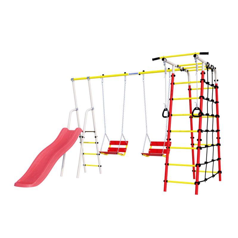 Фотография Детский спортивный комплекс для дачи ROMANA Богатырь Плюс - 2 NEW + цепные качели 0