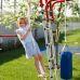 Миниатюра Детский спортивный комплекс для дачи ROMANA Fitness NEW + качели-гнездо 5  мини