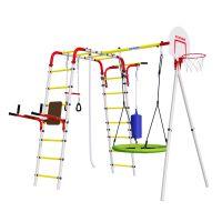 Детский спортивный комплекс для дачи ROMANA Fitness NEW + качели-гнездо