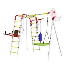 Миниатюра Детский спортивный комплекс для дачи ROMANA Fitness NEW + качели-гнездо 0  мини