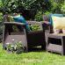 Миниатюра Комплект садовой мебели Keter Corfu II Weekend Set brown 2  мини