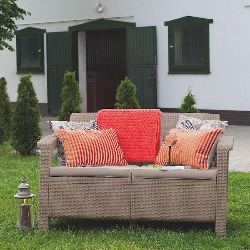 Фотография Диван садовый Keter Corfu II Love Seat cappucino 1