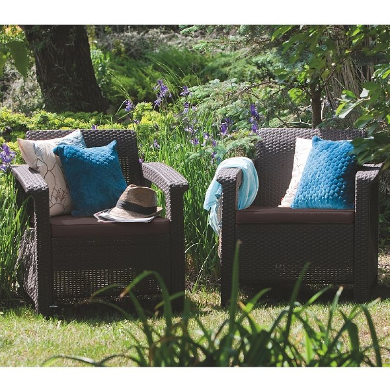 Фотография Кресла садовые Keter Corfu II Duo 2