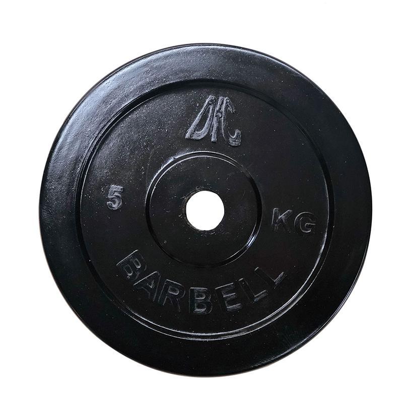Фотография Диск обрезиненный DFC, чёрный, 26 мм, 5кг 0