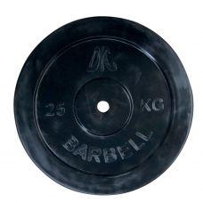 Миниатюра Диск обрезиненный DFC, чёрный, 26 мм, 10кг 0  мини