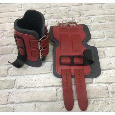 Миниатюра Гравитационные ботинки кожаные JS-405 красные 0  мини