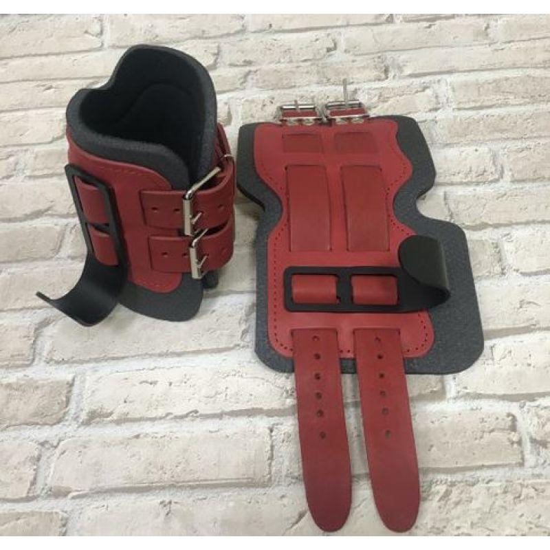 Фотография Гравитационные ботинки кожаные JS-405 красные 0