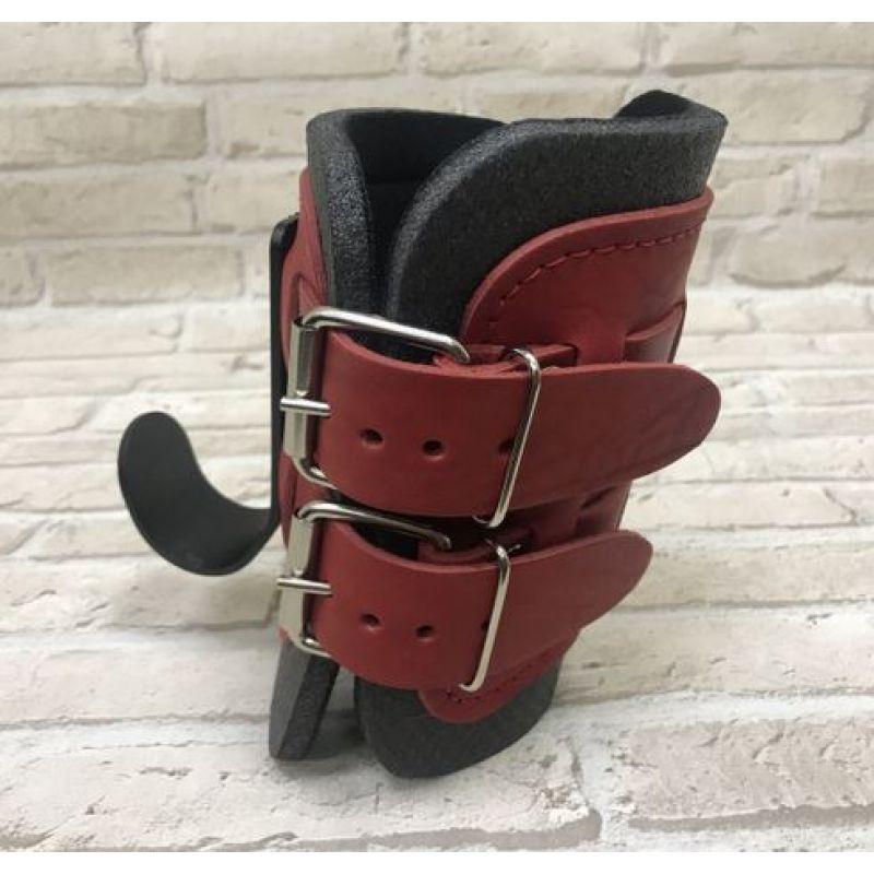 Фотография Гравитационные ботинки кожаные JS-405 красные 3