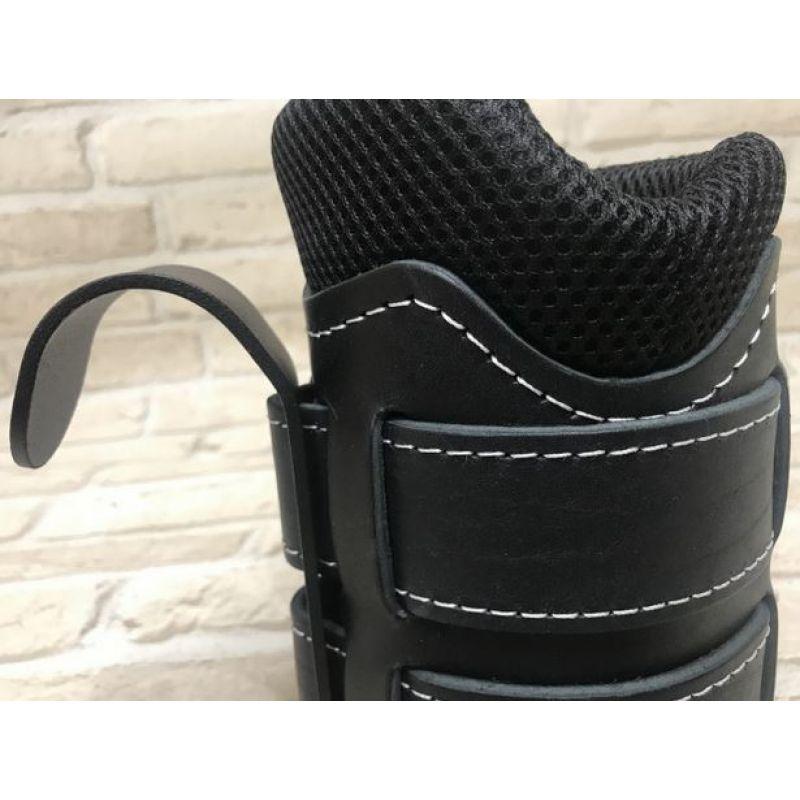 Фотография Гравитационные ботинки кожаные JS-405 черные 1