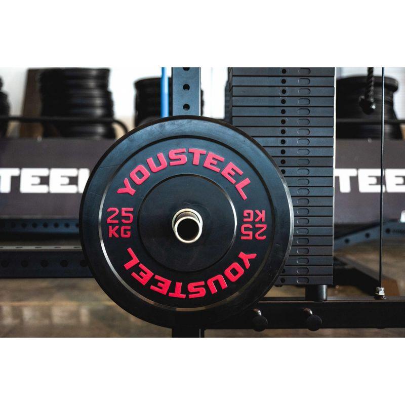Фотография Диски для штанги каучуковые бамперные 5 - 25 кг черные 3