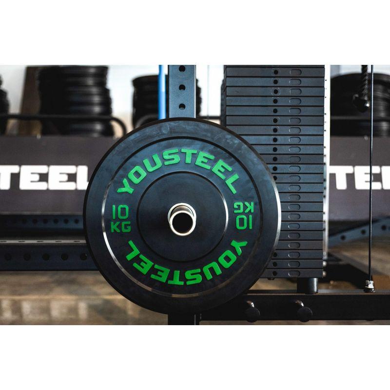 Фотография Диски для штанги каучуковые бамперные 5 - 25 кг черные 5