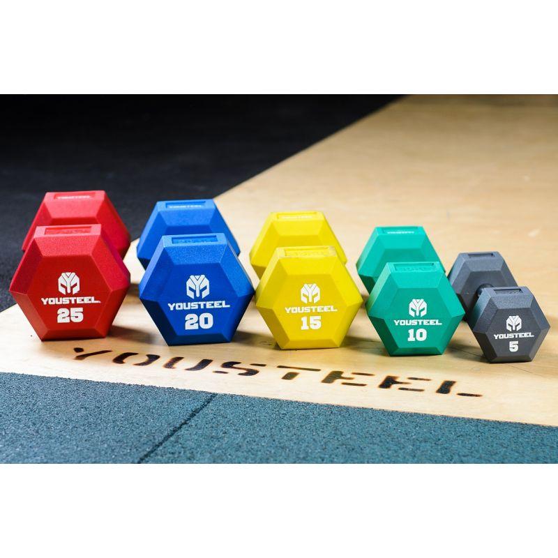 Фотография Гантели цветные полиуретановые 5-25 кг 0