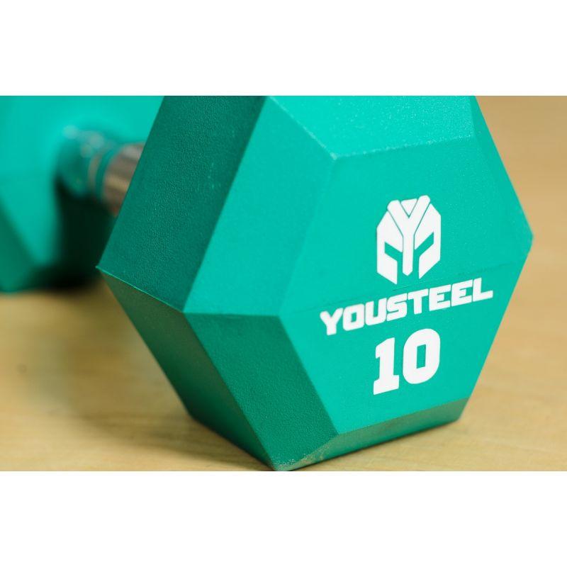 Фотография Гантели цветные полиуретановые 5-25 кг 8