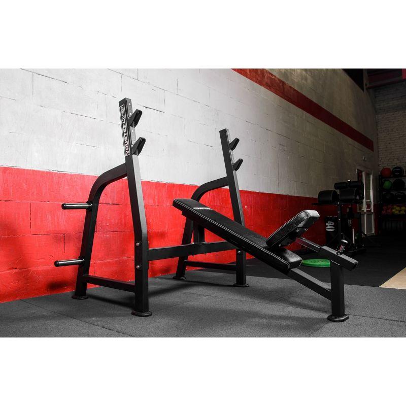 Фотография Олимпийская наклонная скамья для жима 10