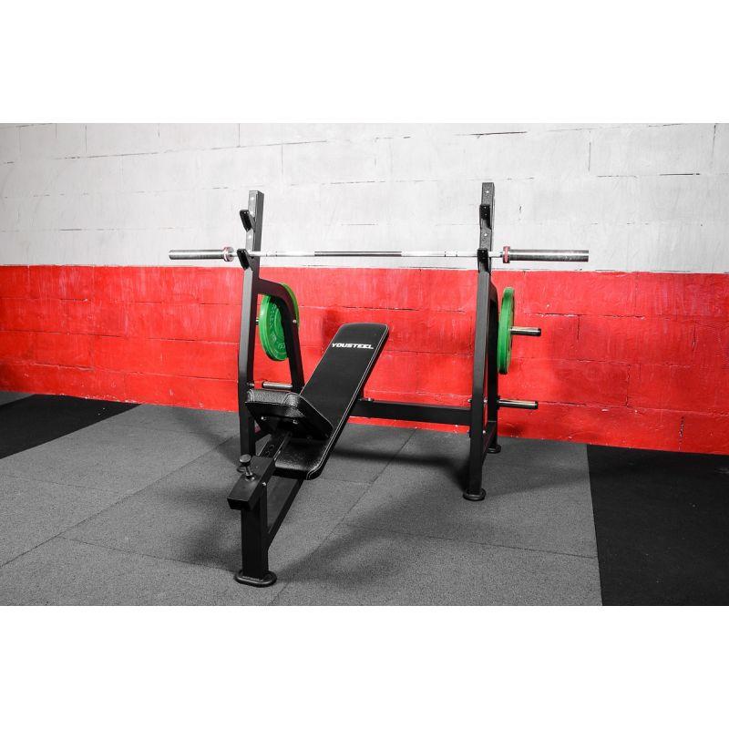 Фотография Олимпийская наклонная скамья для жима 11