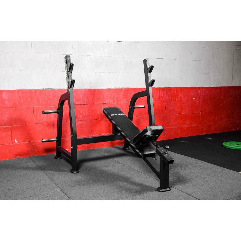 Фотография Олимпийская наклонная скамья для жима 3