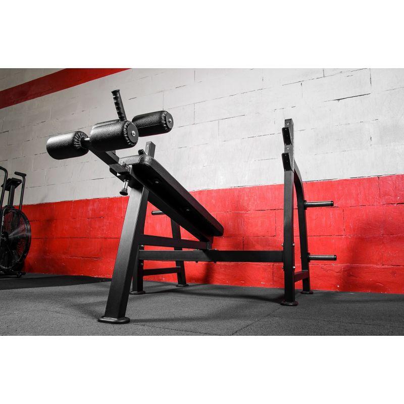 Фотография Олимпийская скамья для жима с отрицательным углом 8