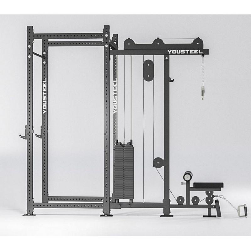 Фотография Верхняя и нижняя тяга, блочный тренажер (вес стека 136 кг) 5
