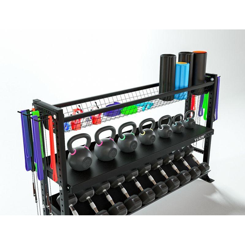 Фотография Стеллаж модульный 1800-1200 мм - Полка с сеткой 2