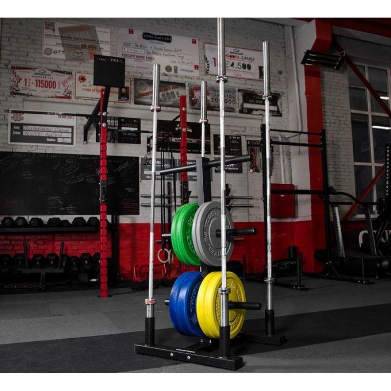 Фотография Стойка для хранения дисков и 4-х грифов Olympic Plate Tree 0