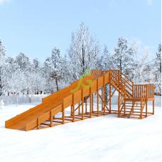 Миниатюра Зимняя деревянная горка Snow Fox, скат 10 м (мод. 2) 0  мини