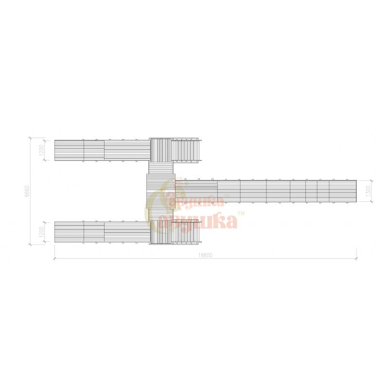 """Фотография Зимняя деревянная игровая горка Савушка """"Зима wood"""" - 11 5"""