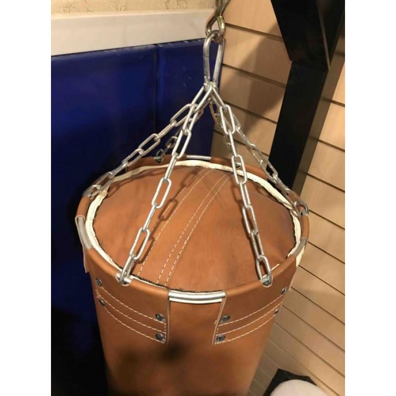 Фотография Мешок боксерский кожаный PRO (коричневый) - 60 кг 2