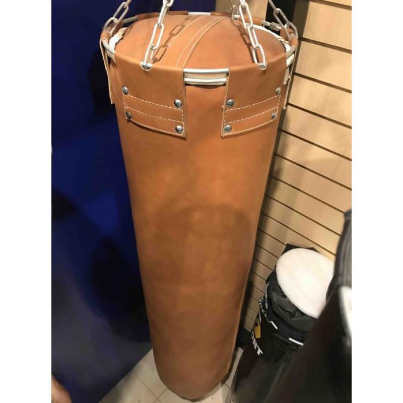 Фотография Мешок боксерский кожаный PRO (коричневый) - 60 кг 1