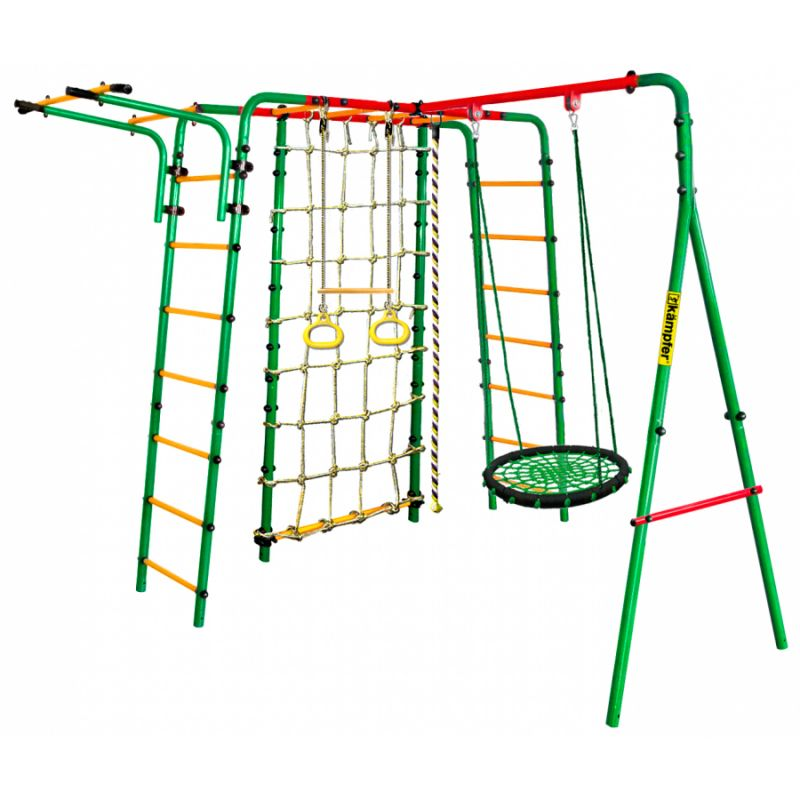 Фотография Уличный детский спортивный комплекс Kampfer Kindisch (Гнездо большое зеленое) 0