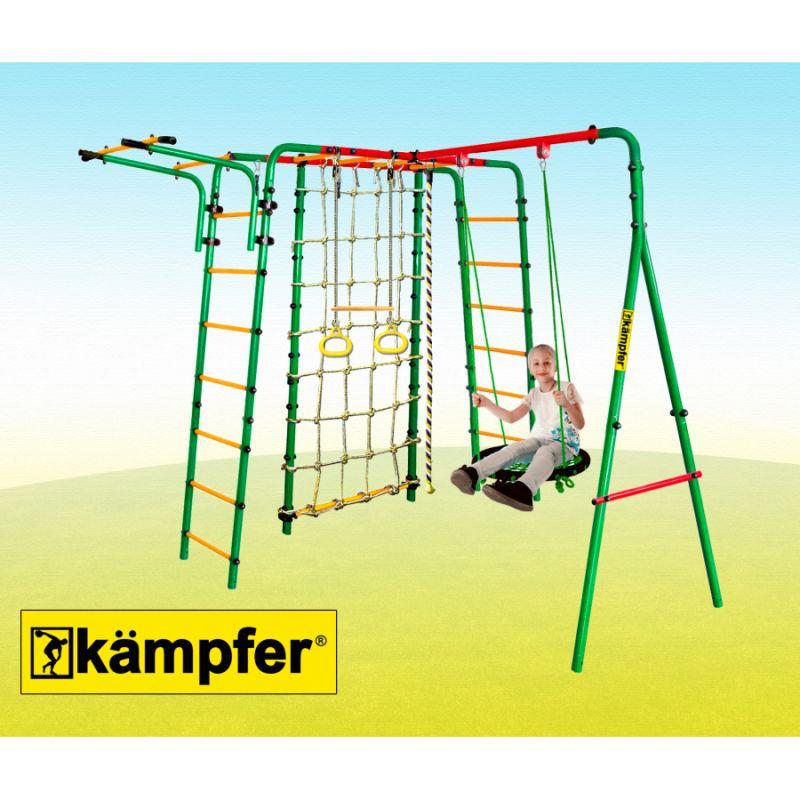 Фотография Уличный детский спортивный комплекс Kampfer Kindisch (Гнездо большое зеленое) 2