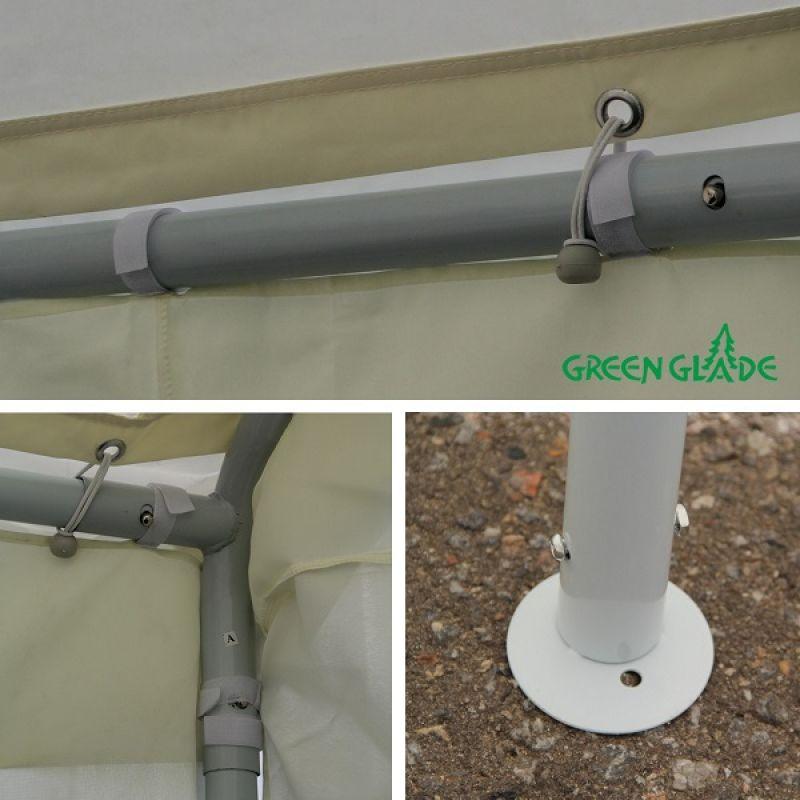 Фотография Тент-шатер Green Glade 3054 4х4х3,1/2 м полиэстер 3