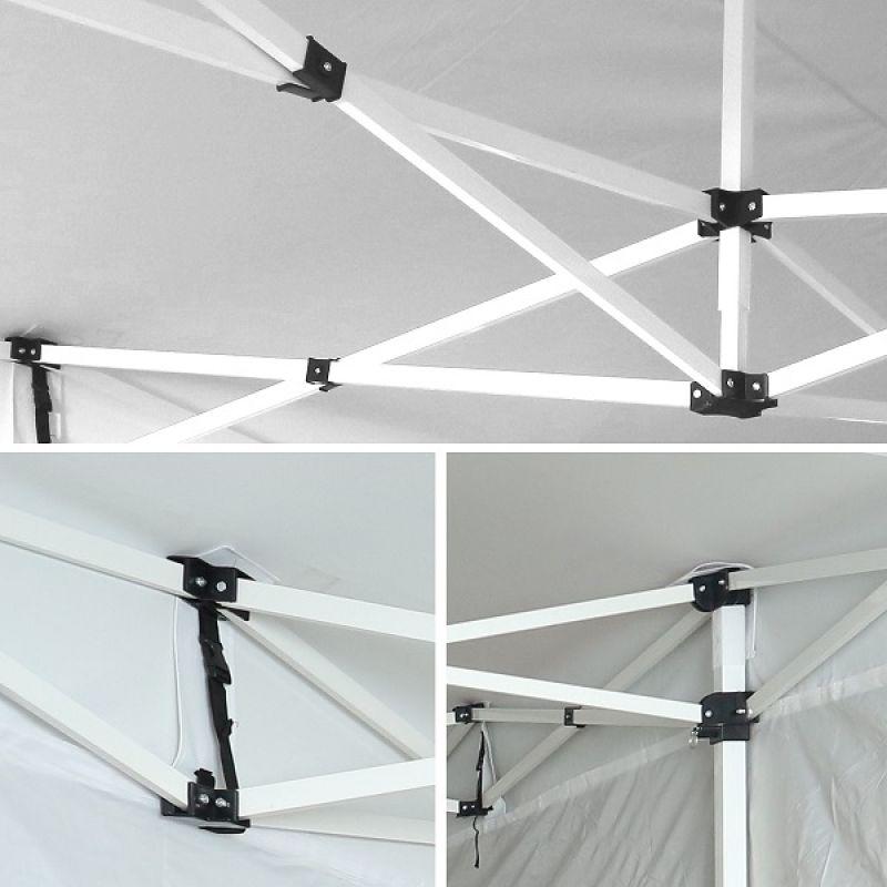 Фотография Тент-шатер быстросборный Helex 4220 2х2х3 м полиэстер зеленый 5