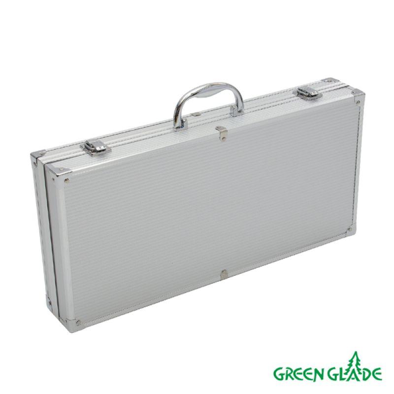 Фотография Набор для гриля Green Glade SC007 18 предметов в чемодане 1