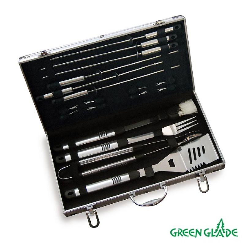 Фотография Набор для гриля Green Glade SC007 18 предметов в чемодане 3