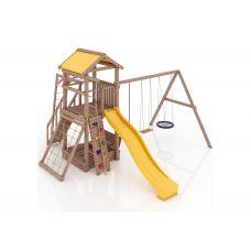 Миниатюра Деревянная детская площадка Барселона с тентовой крышей 0  мини