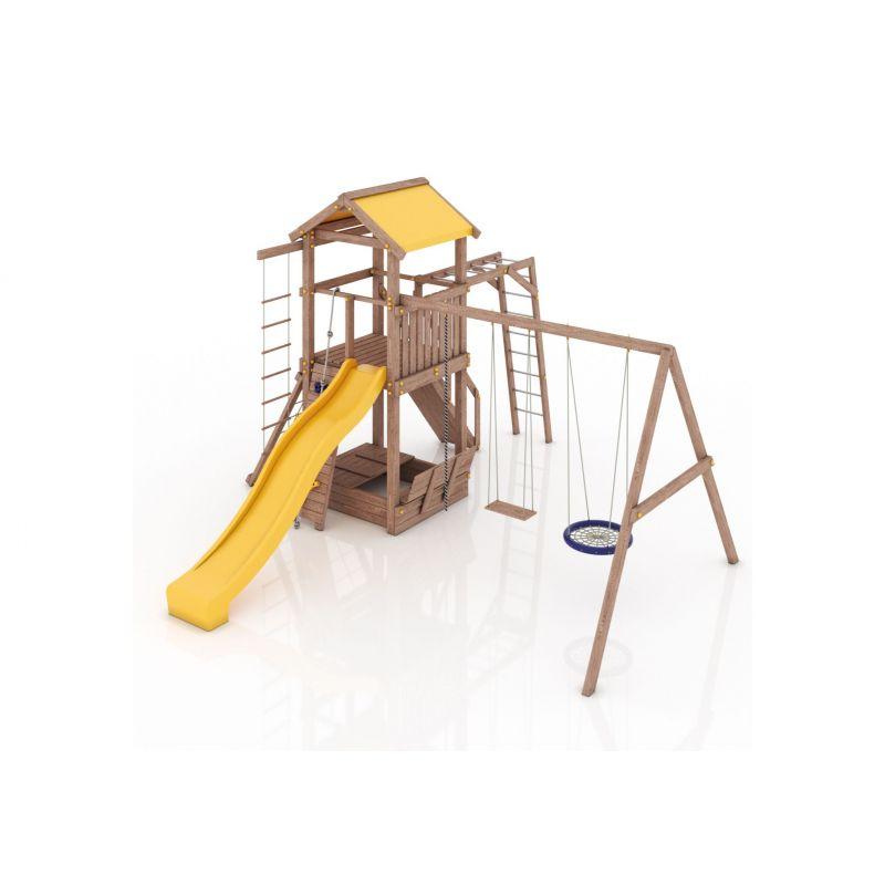 Фотография Деревянная детская площадка Барселона с тентовой крышей 1